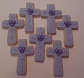Purple Cross Cookies