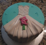 Bridal Shower Fondant dress