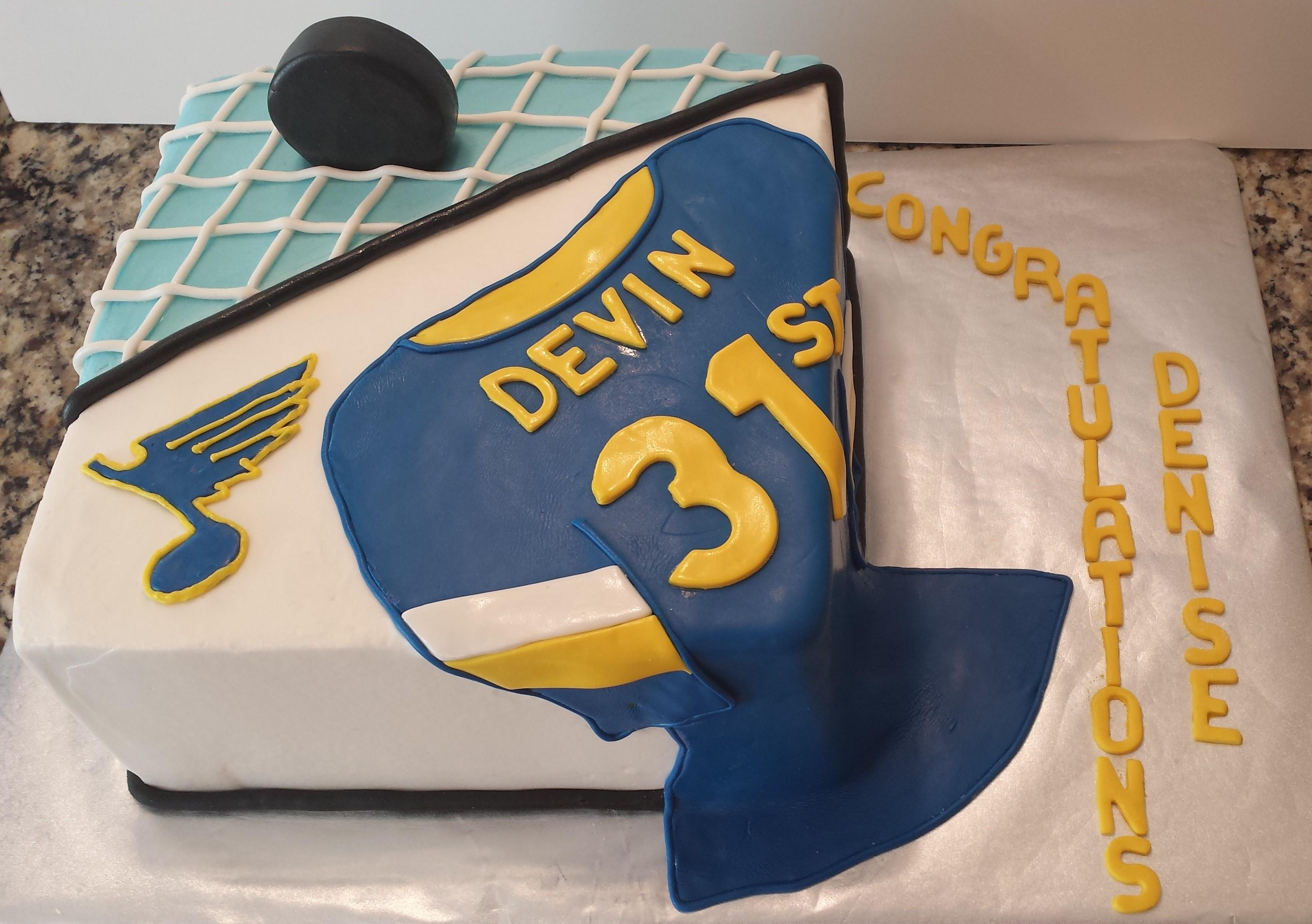 Blues Hockey Cake St Louis Custom Cakes