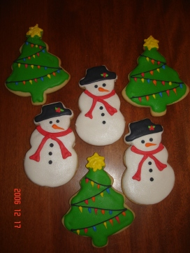 Christmas trees & snowmen