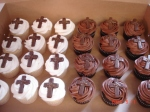 Cupcakes with chocolate cross