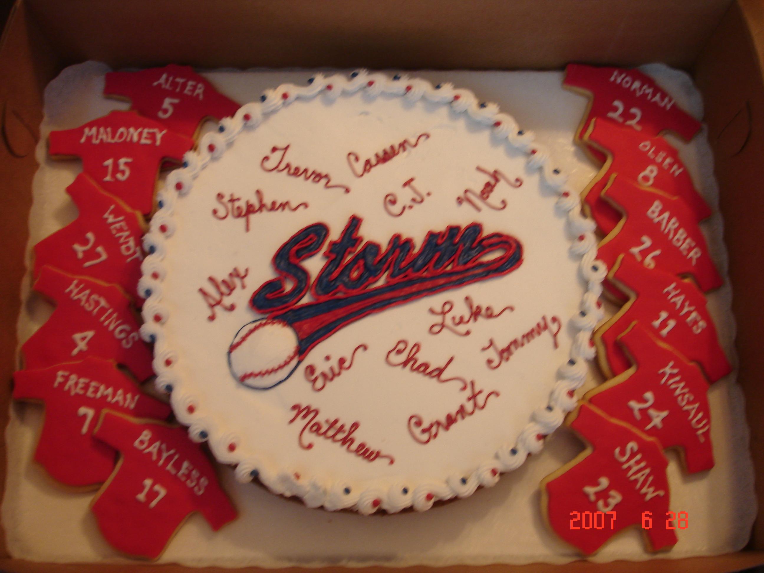 Baseball Jersey Cakes Baseball Cookie Cake Jersey