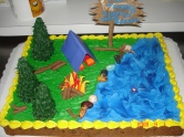 Camping cookie cake