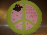 Peace cookie cake