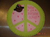 Peace cookie cake