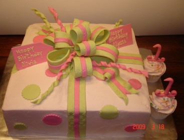 Pink & green present