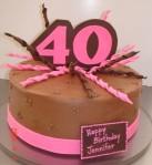 Chocolate buttercream &pink