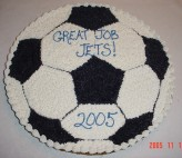 Soccer ball cookie cake