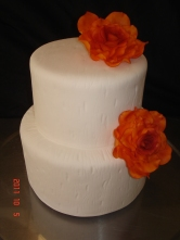 Burnt orange sugar roses