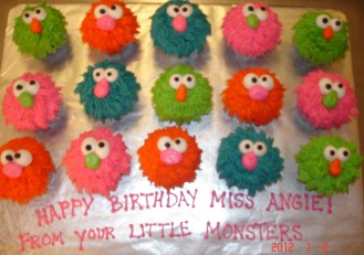 Cute Monster Cupcakes