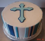 Round cake with Cross
