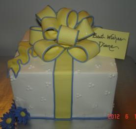 Present, yellow & periwinkle