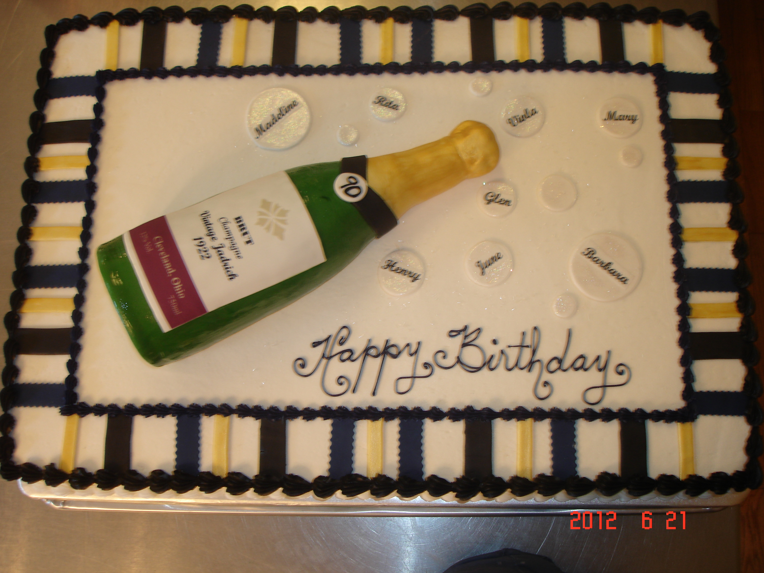 Cake Decorating Solutions : Pin Stencil Louis Vuitton Cake Decorating Solutions Cake ...