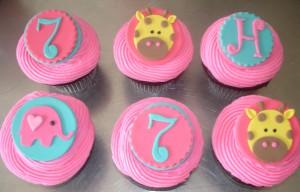 Giraffe Elephant cupcakes