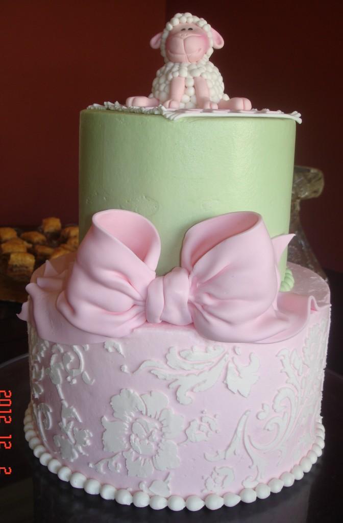 Lamb Baby Shower St Louis Custom Cakes